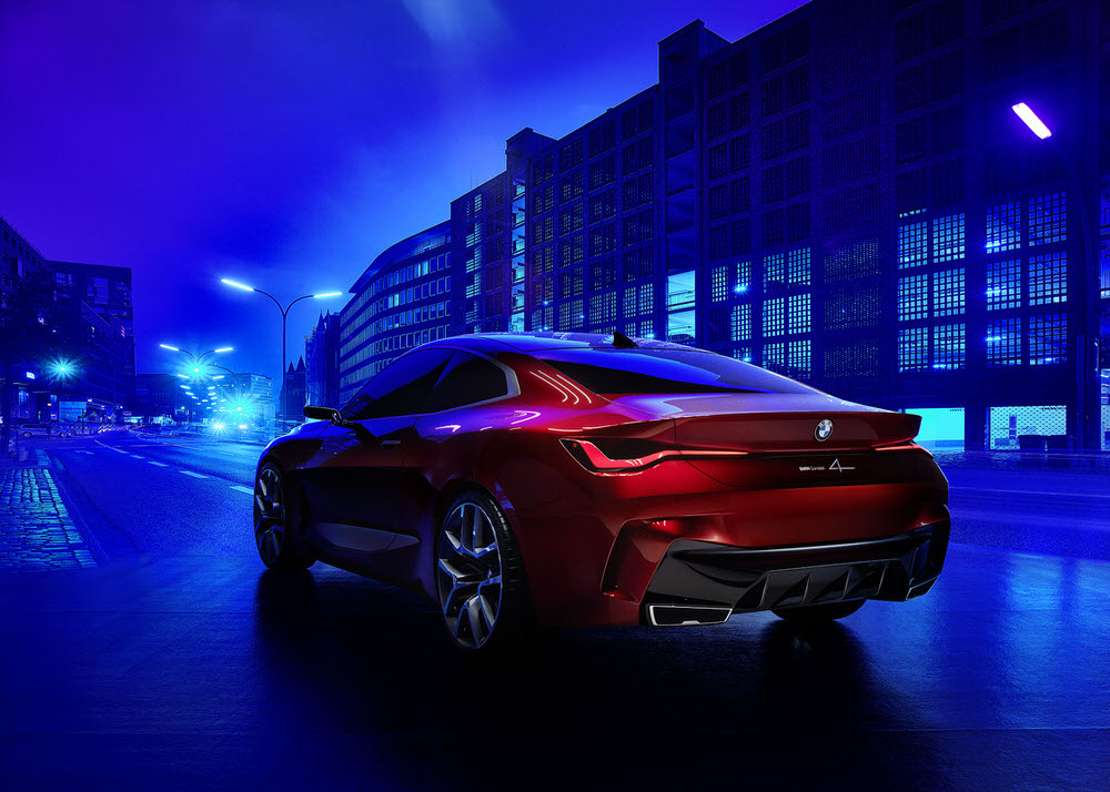 More is More; Less is Bore. New work for the BMW Concept 4 by Simon Puschmann - CRXSS